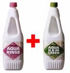 Набор из 2 бутылок жидкостей (Aqua Kem Green и Aqua Rinse)